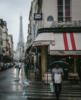 eiffel tower during rain