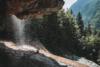 behind the waterfall in königssee