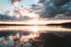 sunset dalsland sweden