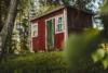 cabin sweden woods